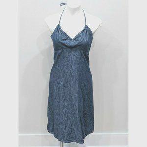 Vintage Y2K GAP Size 8 Halter Dress Chambray